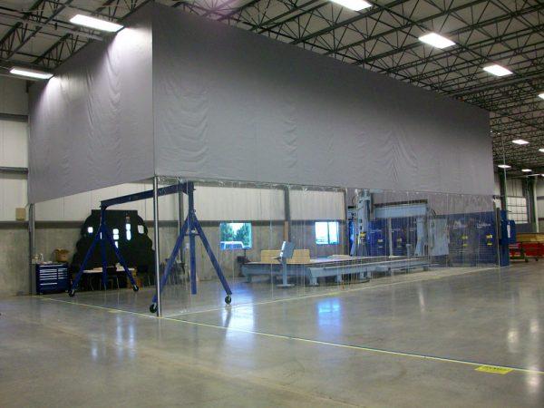 Custom soft wall enclosure, aerospace, Wichita, KS