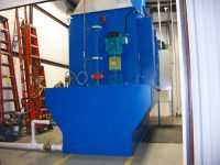 Wet scrubber on down draft bench, aerospace, Wichita, KS